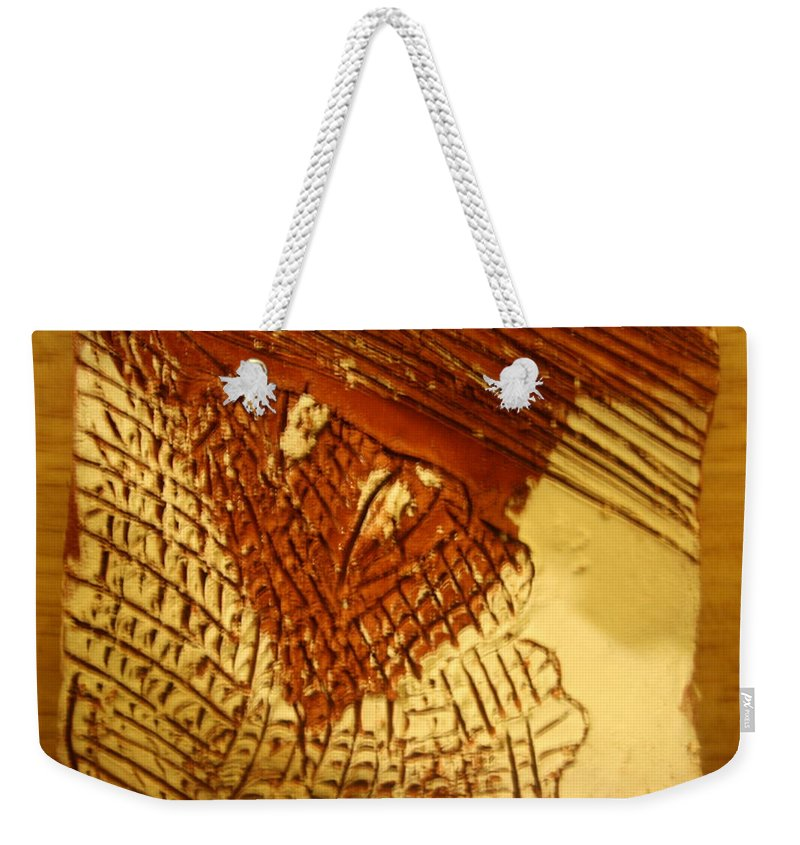 Jesus Weekender Tote Bag featuring the ceramic art Hurricane- Tile by Gloria Ssali