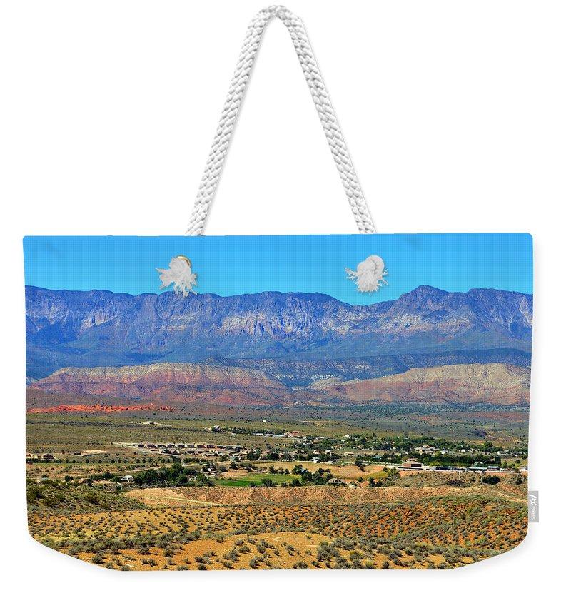 Hurricane Utah Weekender Tote Bag featuring the photograph Hurricane Utah And Red Cliffs Nca by David Lee Thompson