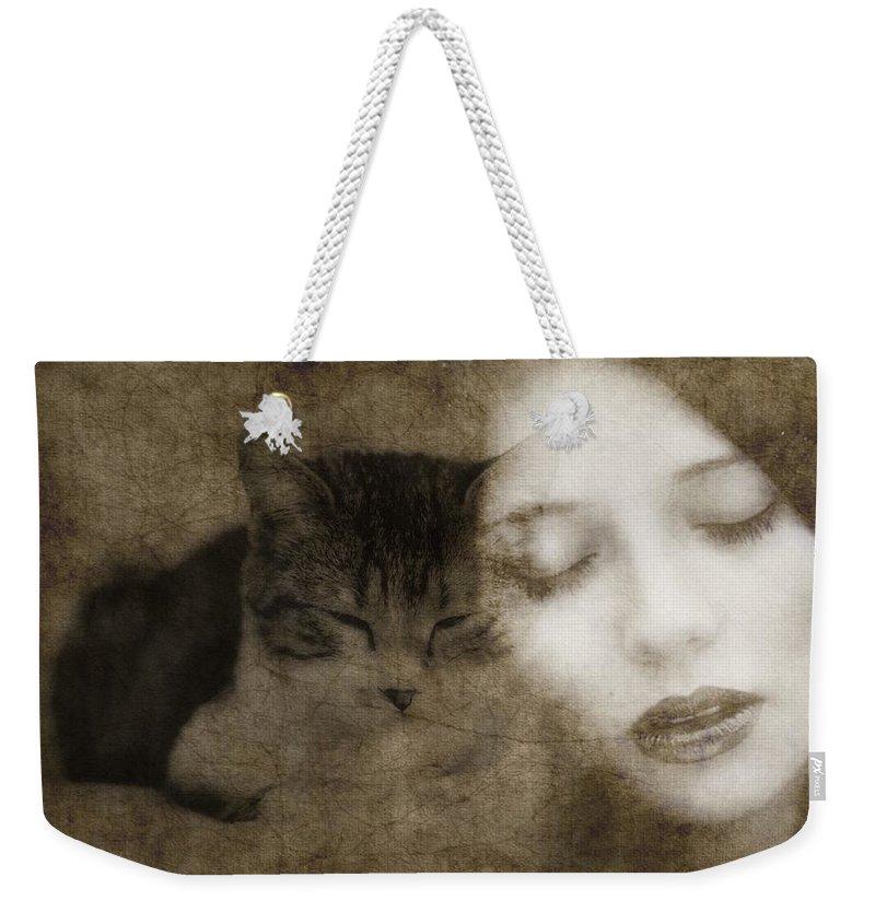 Kitten Digital Art Weekender Tote Bags