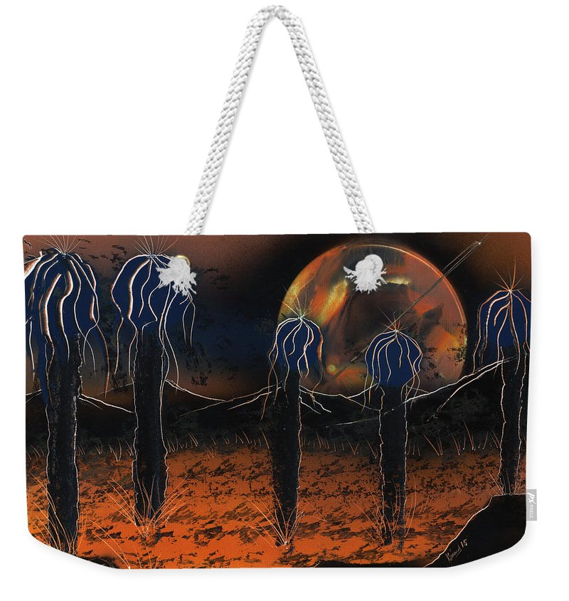 Hybrids Weekender Tote Bag featuring the painting Hybrids by Jason Girard