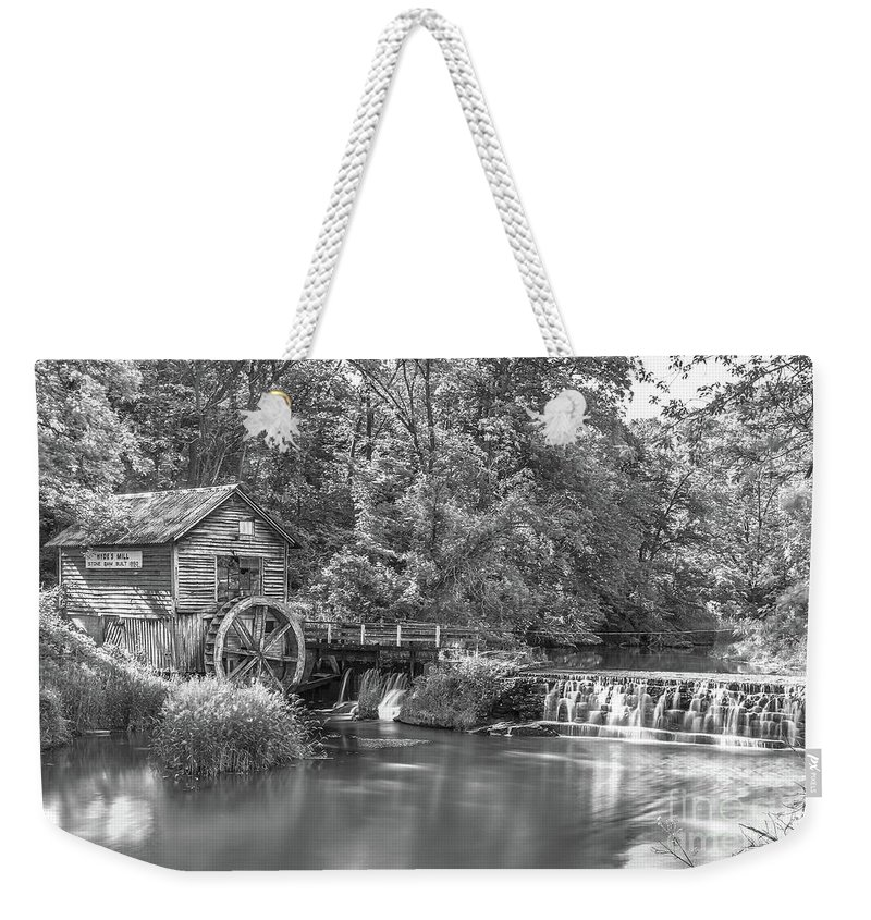 Old Mill Weekender Tote Bag featuring the photograph Hyde's Mill by Monica Hall
