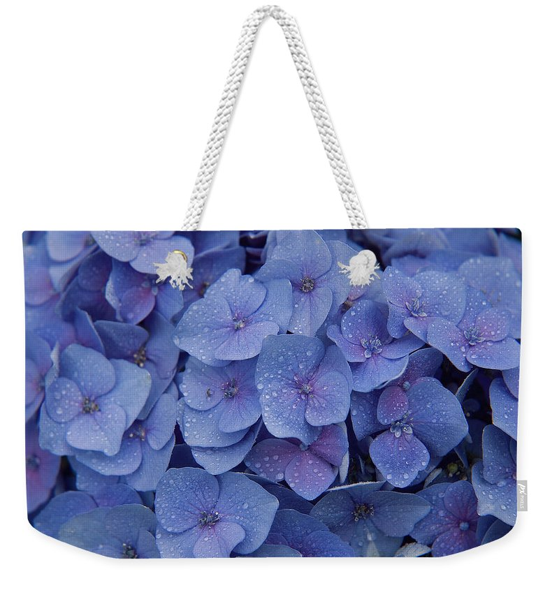 Flowers Weekender Tote Bag featuring the photograph Hydrangea Flowers by Jerry McElroy