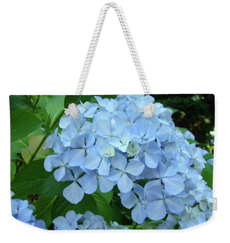 Landscape Weekender Tote Bag featuring the photograph HYDRANGEA Garden Art Prints Hydrangeas Flower Garden Baslee Troutman by Patti Baslee