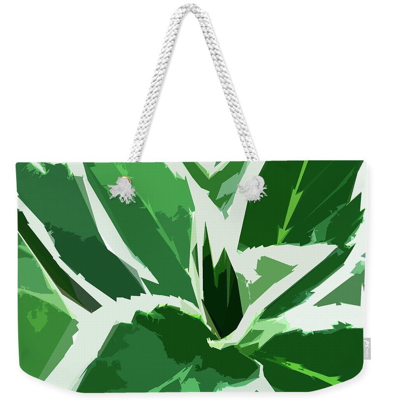 Foliage Weekender Tote Bag featuring the digital art Hydrangea by Gina Harrison