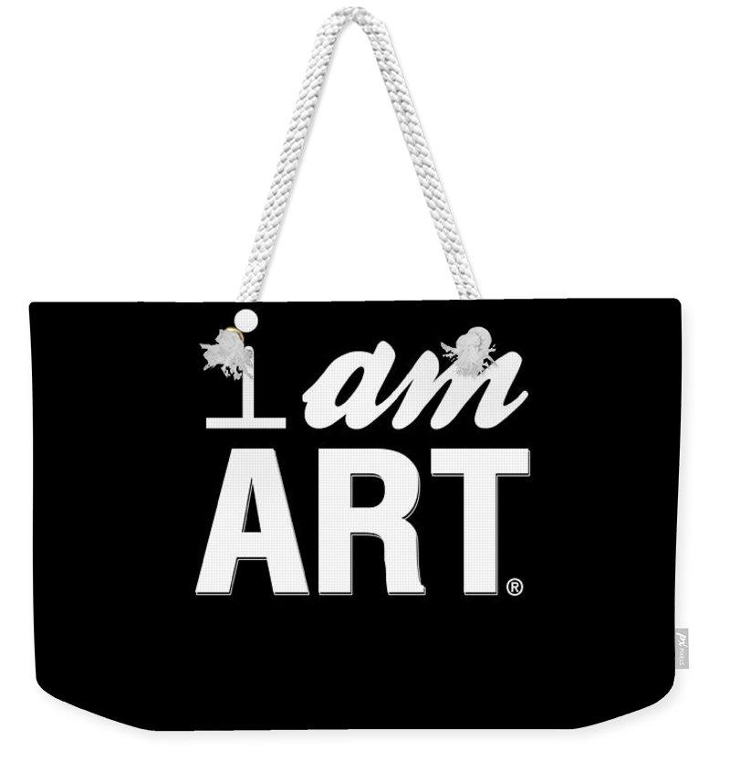 Art Weekender Tote Bag featuring the digital art I AM ART- Shirt by Linda Woods