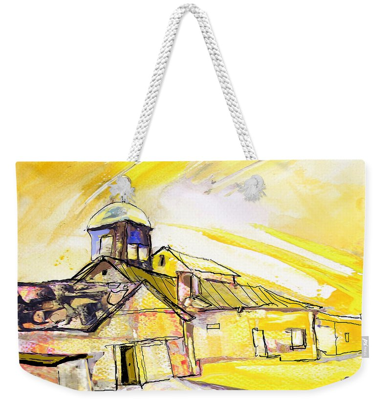 Fantasy Weekender Tote Bag featuring the painting I Am Leaving Spain Now by Miki De Goodaboom