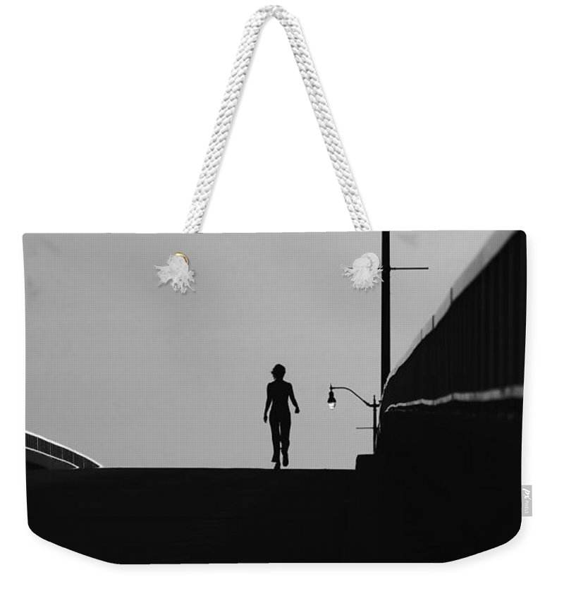 Female Weekender Tote Bag featuring the photograph I Am Woman by David Lee Thompson