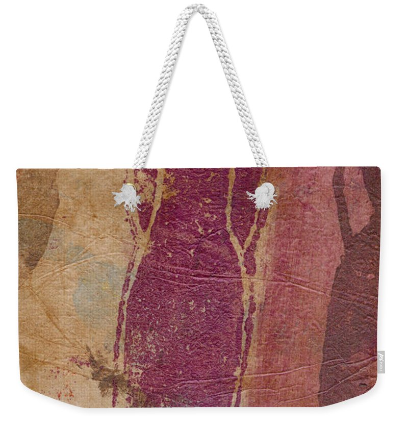 Wood Weekender Tote Bag featuring the mixed media I Am Woman Yes I Am by Angela L Walker