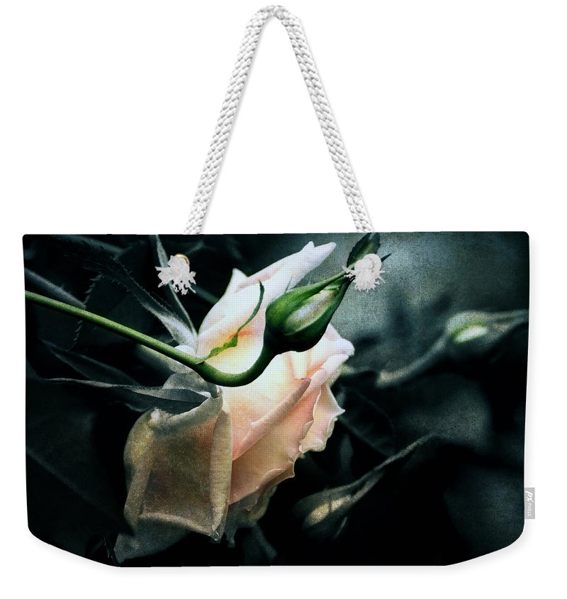 Rose Weekender Tote Bag featuring the digital art I Am Your Ghost Of A Rose by Georgiana Romanovna