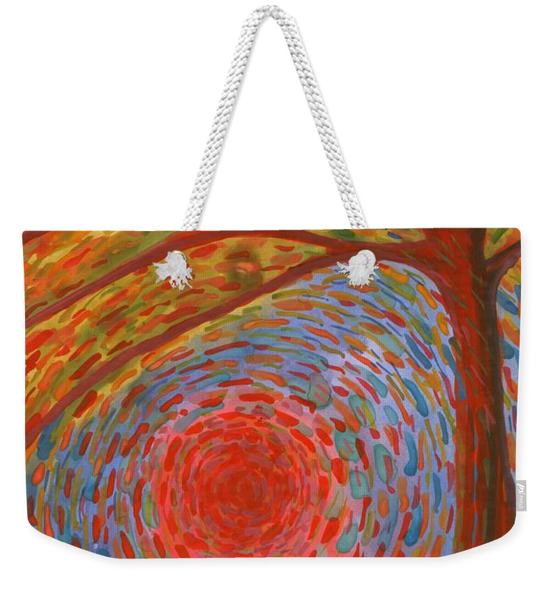 Colour Weekender Tote Bag featuring the painting I Die by Wojtek Kowalski