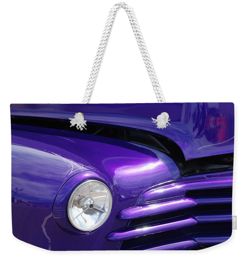 Cars Weekender Tote Bag featuring the photograph I Drove The Shevy by Susanne Van Hulst