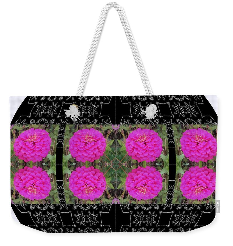 Abstract Weekender Tote Bag featuring the digital art I Give To You A World Of Flowers by Debra Lynch