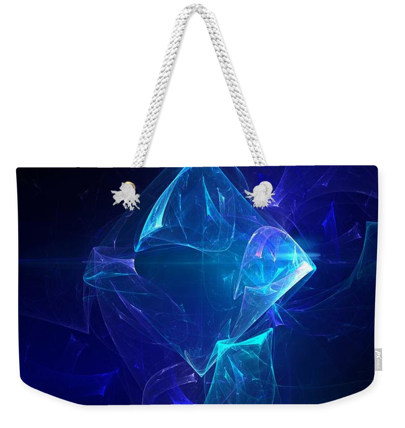 Abstract Digital Photo Weekender Tote Bag featuring the digital art I Had Too Much To Dream Last Night by David Lane