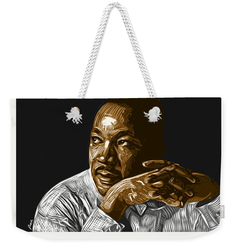 Dr. Martin Luther King Jr. Weekender Tote Bag featuring the digital art I Have A Dream . . . by Antonio Romero