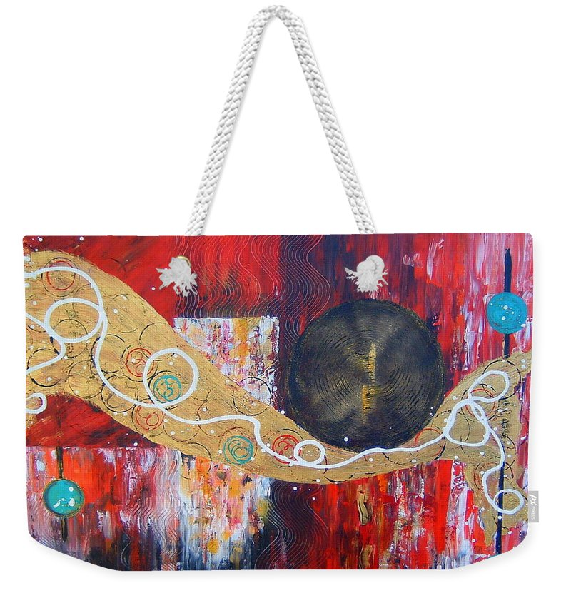 Abstract Weekender Tote Bag featuring the painting I Hear Music by Cheryl Ehlers