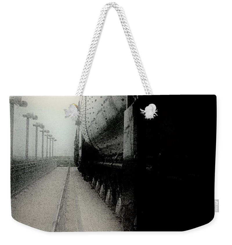 Train Weekender Tote Bag featuring the digital art I Hear That Lonesome Whistle Blow by RC DeWinter