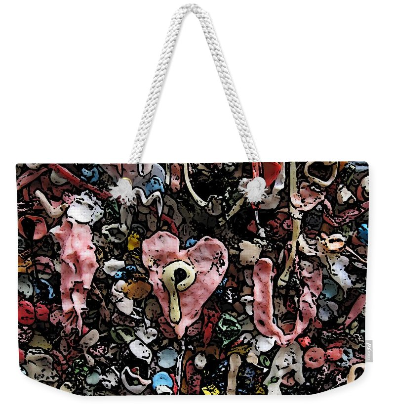 Heart Weekender Tote Bag featuring the digital art I Heart You by Tim Allen