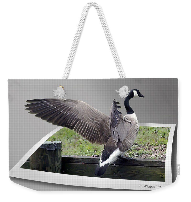 2d Weekender Tote Bag featuring the photograph I Made It by Brian Wallace