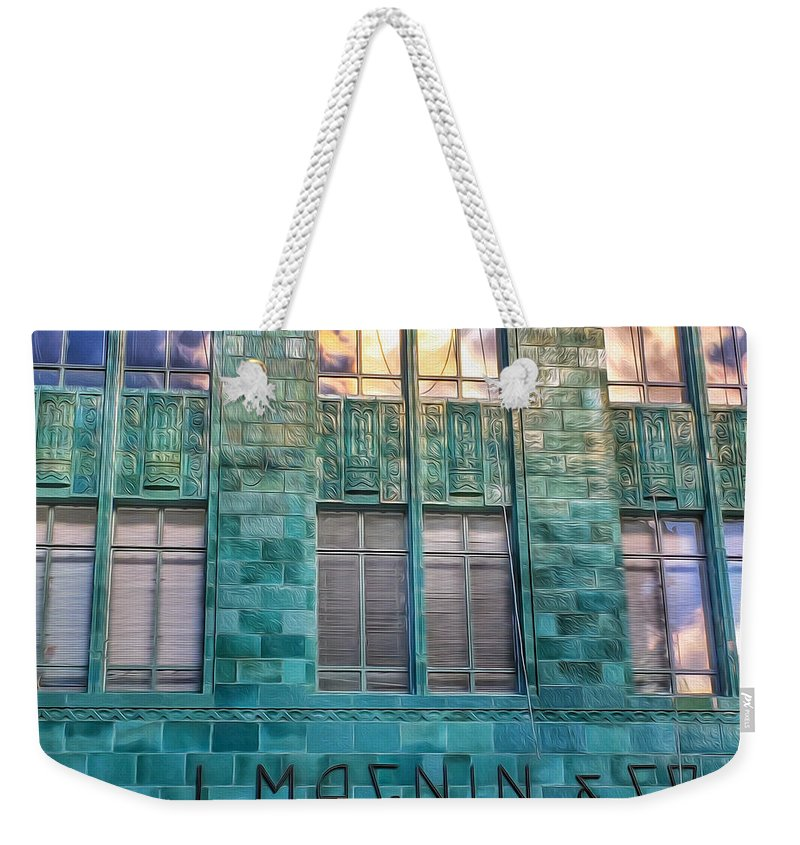 I. Magnin Weekender Tote Bag featuring the photograph I. Magnin Oakland by Bill Owen