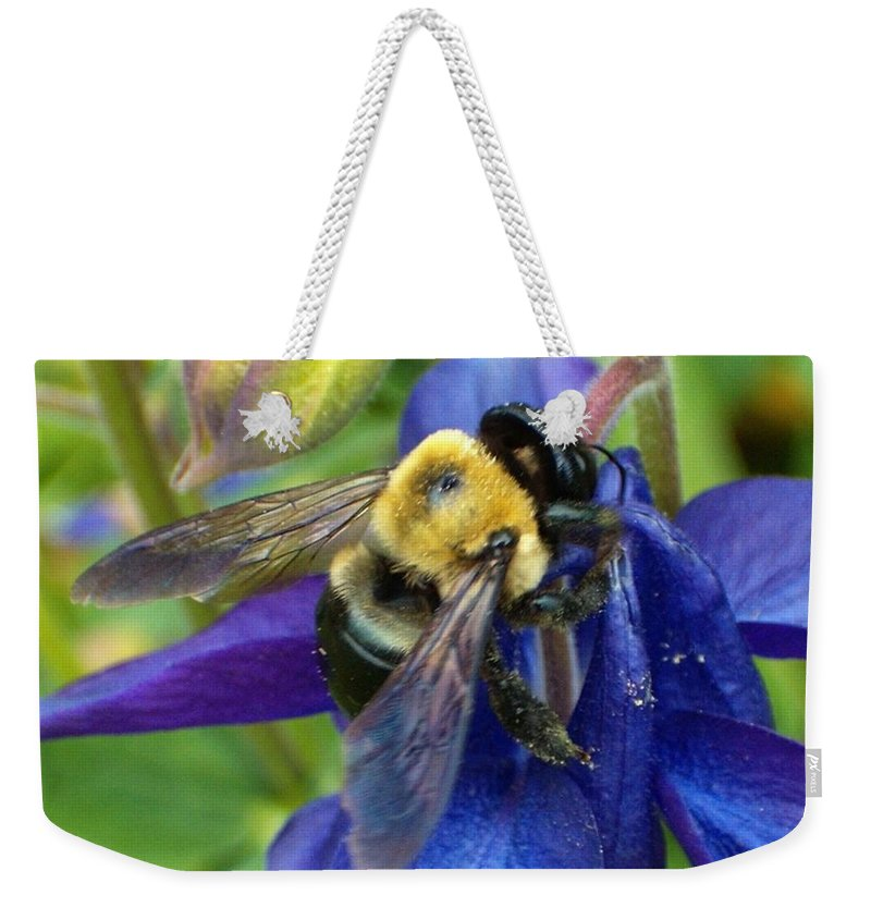 Bee Weekender Tote Bag featuring the photograph I Never Knew by Sara Raber