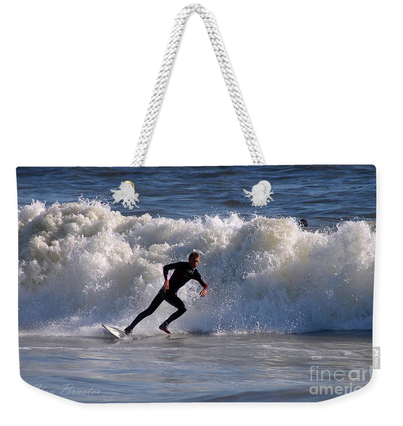 Clay Weekender Tote Bag featuring the photograph I Quit by Clayton Bruster