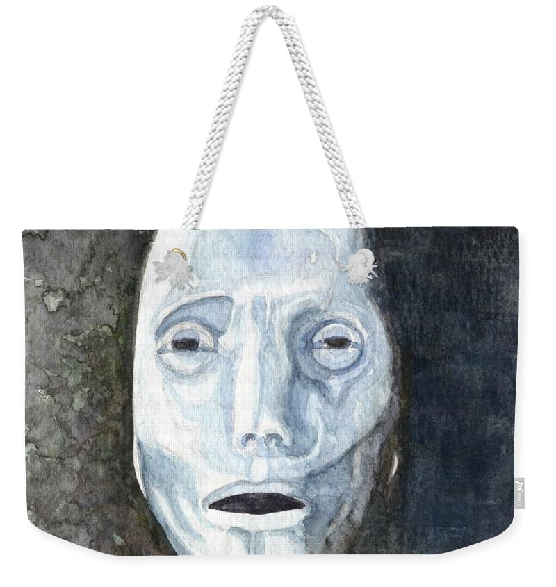 I Weekender Tote Bag featuring the painting I, Robot by Mark Benton