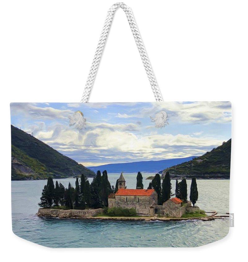 Isle Weekender Tote Bag featuring the digital art I Stand Alone by Janet Fikar