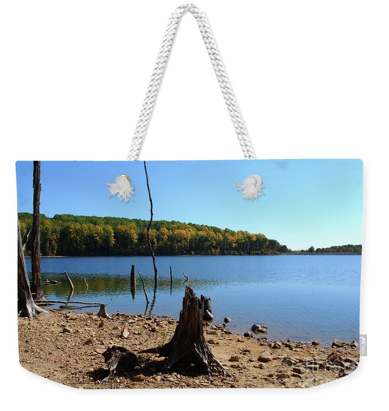 Waterscape Weekender Tote Bag featuring the photograph I Used To Be A Tree by Lori Tambakis