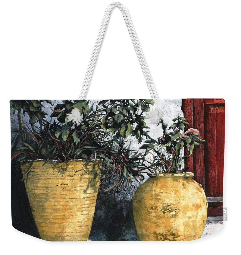 Vases Weekender Tote Bag featuring the painting I Vasi by Guido Borelli