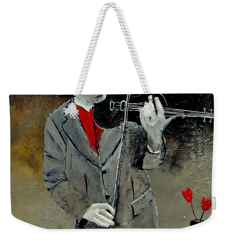 Music Weekender Tote Bag featuring the painting I Ve Two Loves by Pol Ledent