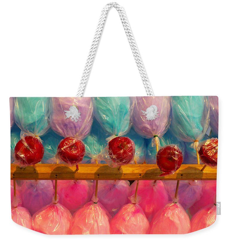 Skip Hunt Weekender Tote Bag featuring the photograph I Want Candy by Skip Hunt
