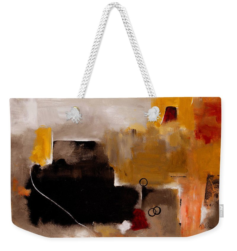 Abstract Weekender Tote Bag featuring the painting I Wonder by Ruth Palmer