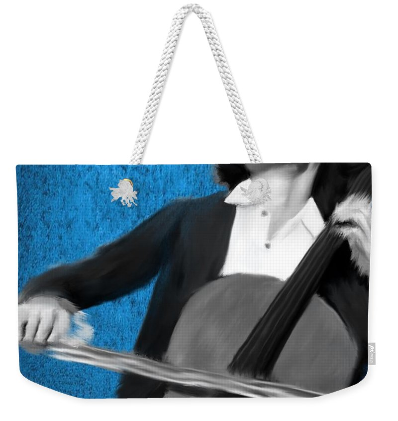 Weekender Tote Bag featuring the painting Ian Maksin by Jack Bunds