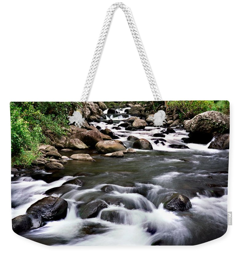 Iao Weekender Tote Bag featuring the photograph Iao Valley Stream by Nature Photographer
