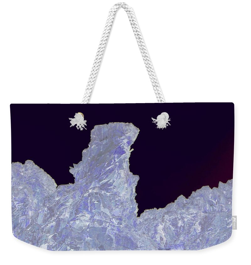 Abstract Weekender Tote Bag featuring the photograph Ice Cliff by Jeff Swan