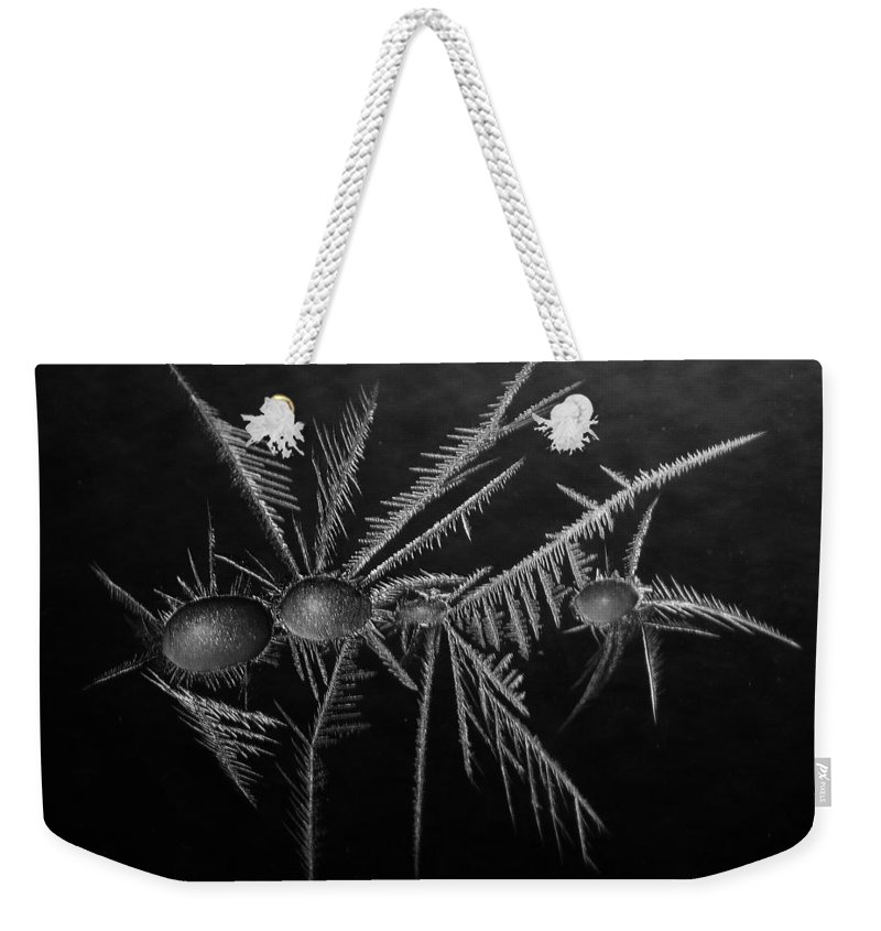 Winter Weekender Tote Bag featuring the photograph Ice Crystals ... by Juergen Weiss