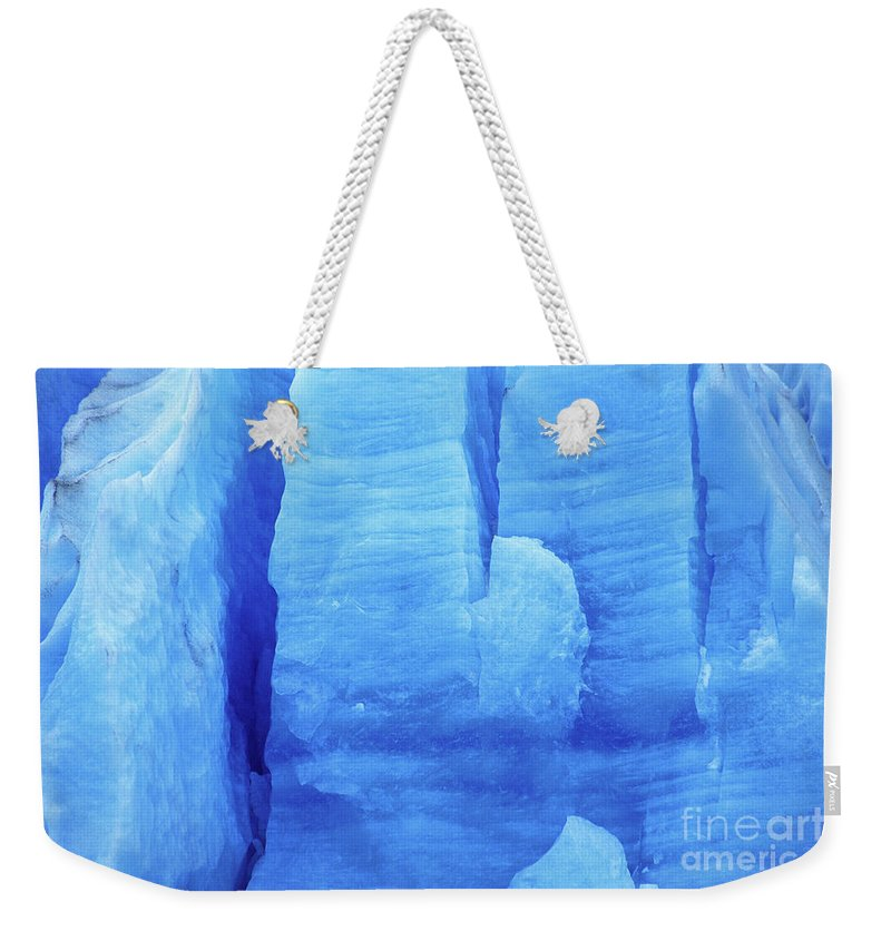 Glacier Weekender Tote Bag featuring the photograph Ice Formations by James Brunker