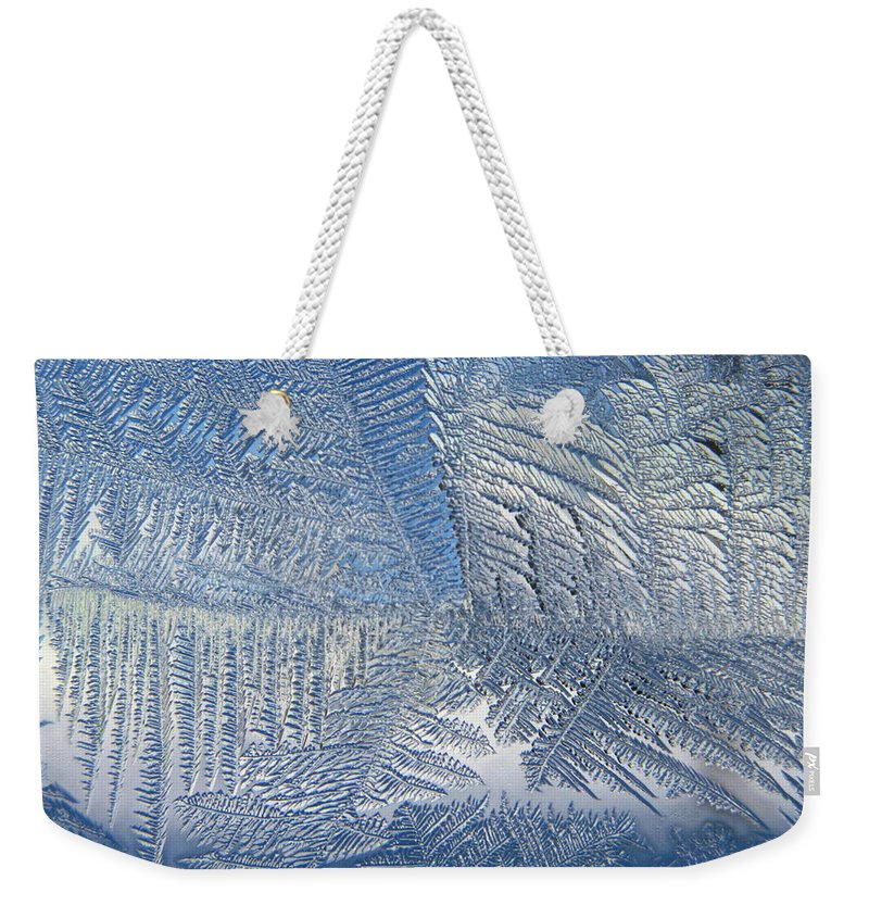 Ice Weekender Tote Bag featuring the photograph Ice Galore by Rhonda Barrett