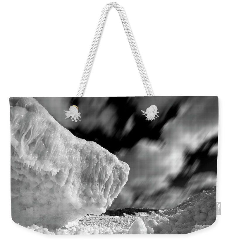 Photography Weekender Tote Bag featuring the photograph Ice Giant by Frederic A Reinecke