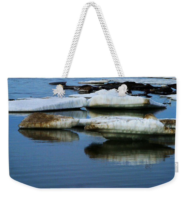 Ice Weekender Tote Bag featuring the photograph Ice In The Arctic by Anthony Jones