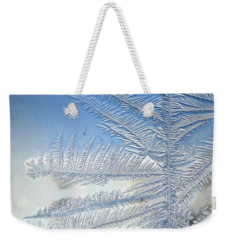 Ice Weekender Tote Bag featuring the photograph Ice Tree by Rhonda Barrett