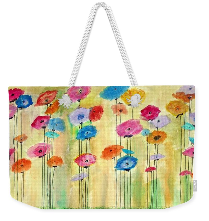 Weekender Tote Bag featuring the painting Icelandic Poppies by Martha Dolan