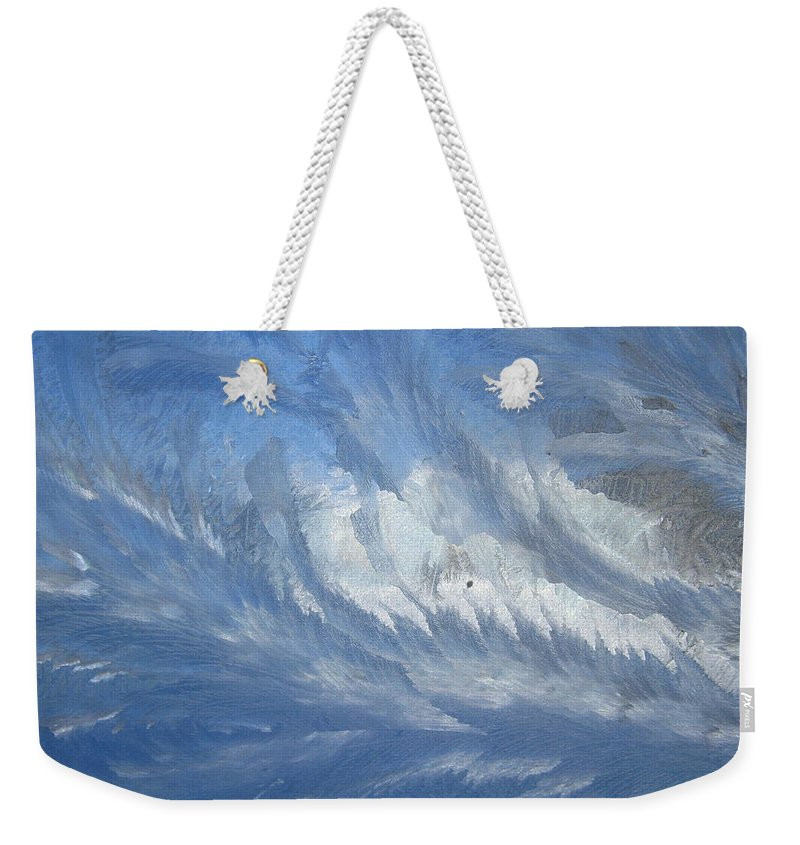 Ice Weekender Tote Bag featuring the photograph Icescapes 1 by Rhonda Barrett