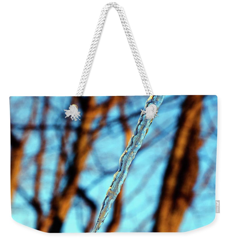 Icicle Weekender Tote Bag featuring the photograph Icicle by Andee Design