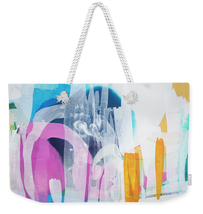 Abstract Weekender Tote Bag featuring the painting Icing On The Cake by Claire Desjardins