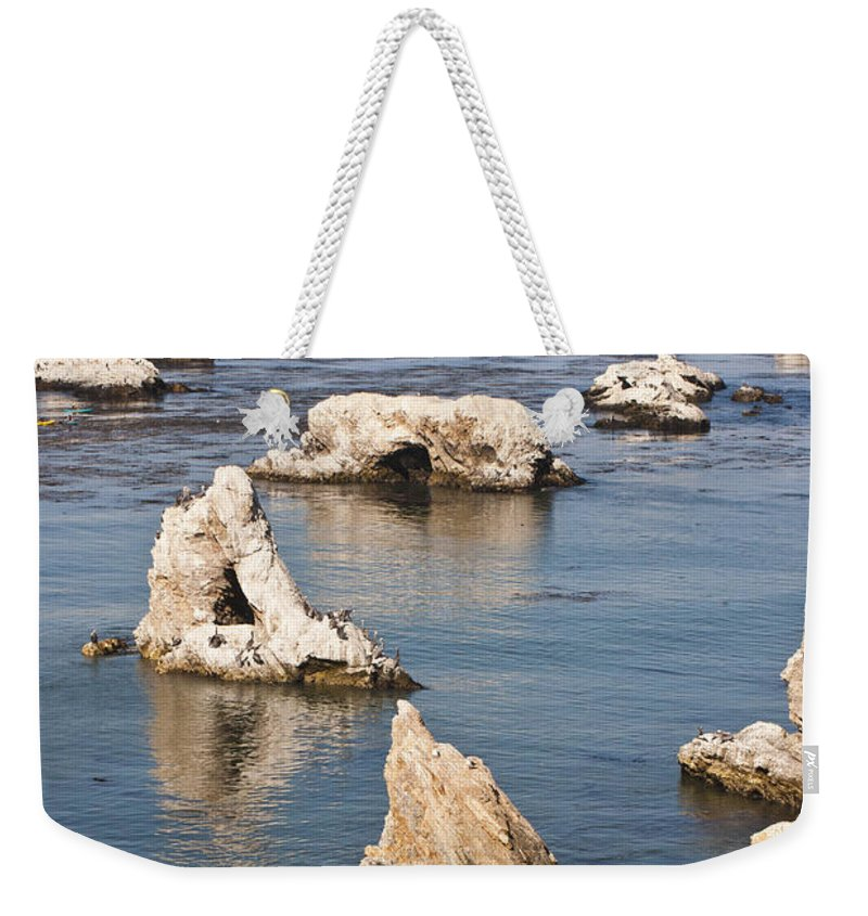 Shell Beach Weekender Tote Bag featuring the photograph Iconic Shell Beach by Art Block Collections