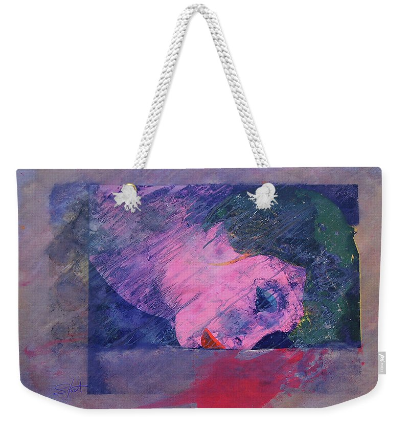 Psycho Weekender Tote Bag featuring the painting Iconoclasm 2 by Charles Stuart