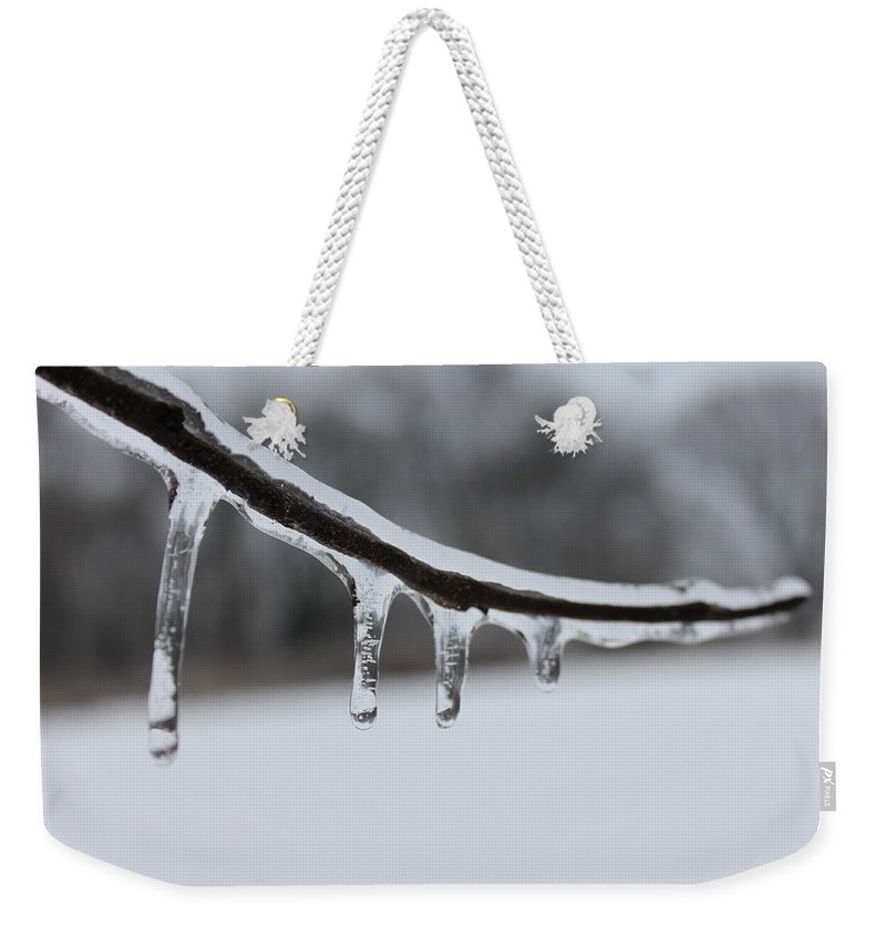 Tree Weekender Tote Bag featuring the photograph Icy Finger by Lauri Novak