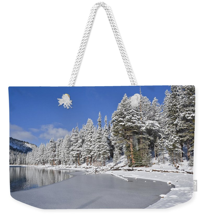 Water Weekender Tote Bag featuring the photograph Icy by Kelley King
