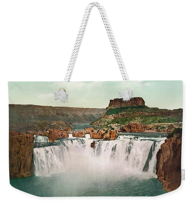 1898 Weekender Tote Bag featuring the photograph Idaho: Shoshone Falls by Granger